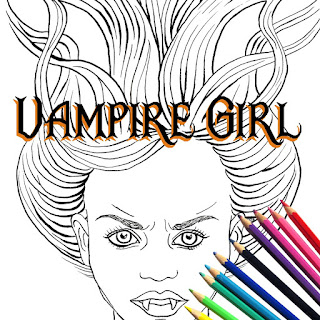 Vampire Girl Printable Coloring Page