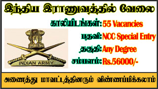 Indian Army Recruitment 2021 55 NCC Special Entry Posts