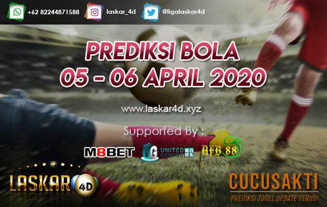 PREDIKSI BOLA JITU TANGGAL 05 – 06 APRIL 2020