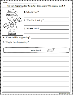 Fall Write About It Worksheet