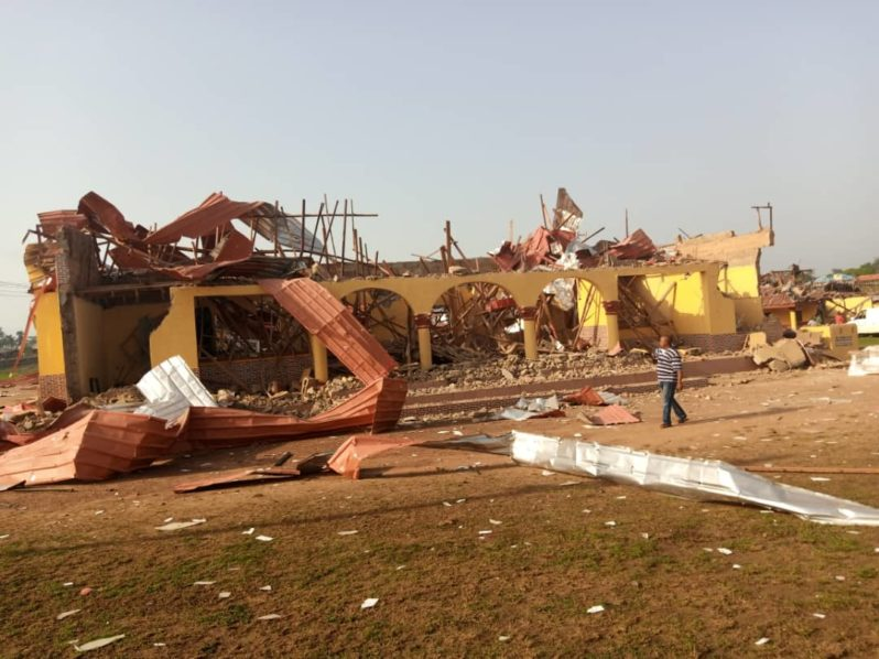 Photos: An Asterioid from space hits Akure destroying houses #Arewapublisize
