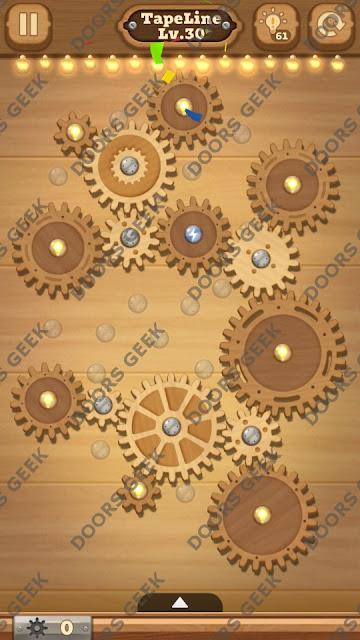 Fix it: Gear Puzzle [TapeLine] Level 30 Solution, Cheats, Walkthrough for Android, iPhone, iPad and iPod