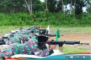 Asah Skil Dan Kemampuan Menembak, Personel Kodim Jepara Gelar Latihan