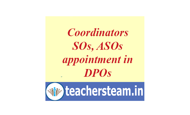 Coordinators, Assistant Statistical Officers(ASO) appointment  in DPOs