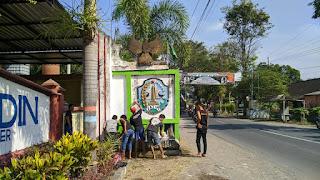 PSHT Ranting Wuluhan Jember Perbaiki Dan PengecatanTugu Pancasila
