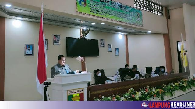 DPRD Tanggamus Gelar Paripurna Penyampaian KUPA PPAS-P Anggaran tahun 2021