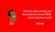 What is color wheel, and how does it convert RGB colors into hex code?