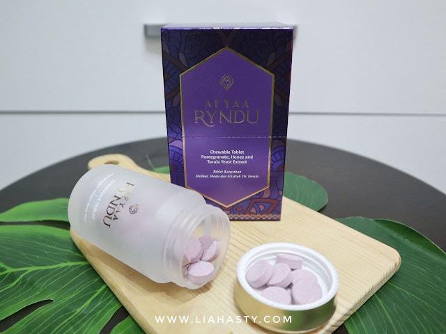 Suplemen Afyaa Ryndu untuk Glowing Skin & Penjagaan Kulit Dalaman