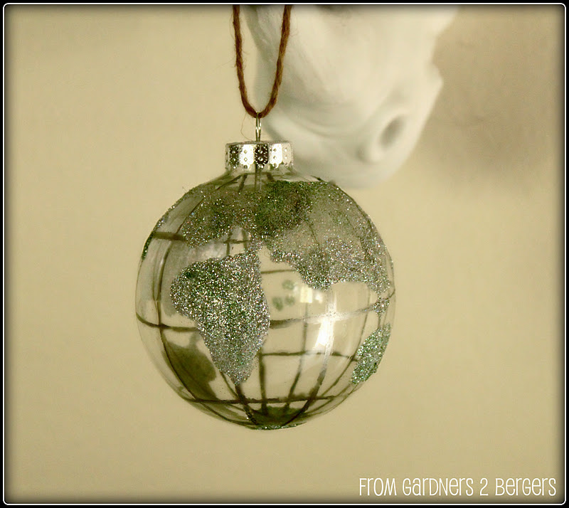 Pottery Barn Globe Lamp: From Gardners 2 Bergers: DIY Pottery Barn Globe Ornament