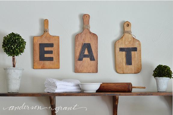 Simple kitchen display | www.andersonandgrant.com