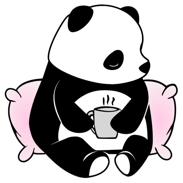 Panda Coffee Vector Free Download