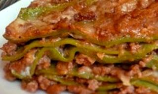 Porzione di lasagne verdi