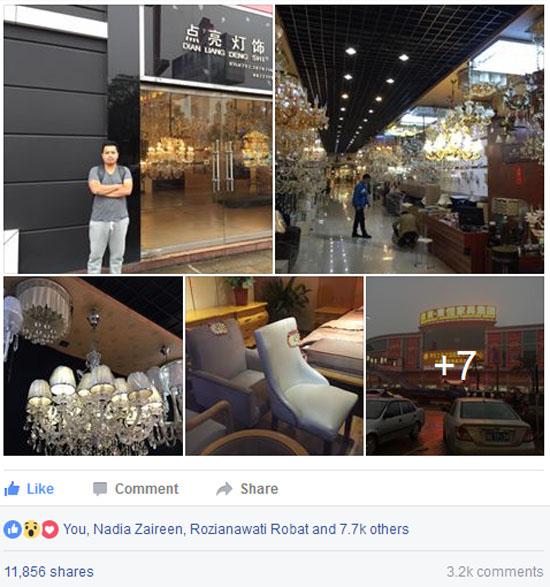 Post Viral Abang Lid Tentang Fooshan Lubuk Perabot Murah di China