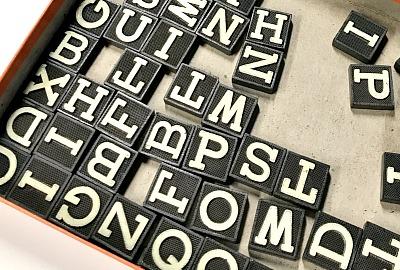vintage Anagram tiles
