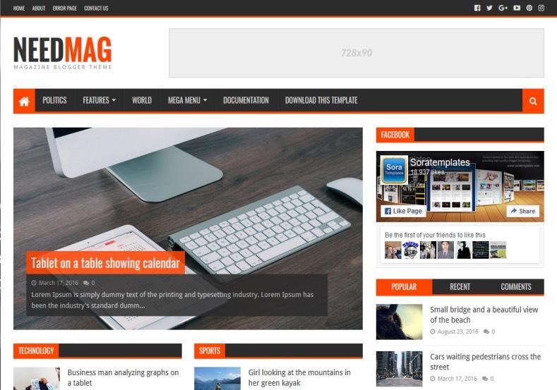 Tema Portal de Notícias Profissional WordPress - Portal web radio grátis