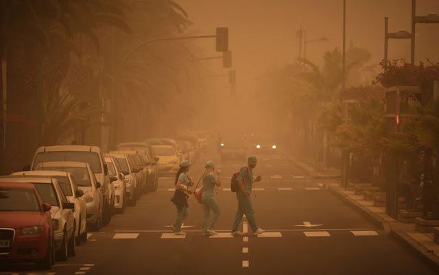 Tempestade de areia provoca fechamento de aeroportos nas Ilhas Canárias