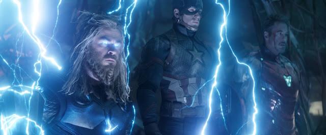Chris Hemsworth Chris Evans Robert Downey Jr. Anthony and Joe Russo | Captain America | Marvel's Avengers: Endgame