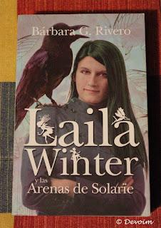 Ejemplar de Laila Winter y las Arenas de Solarïe para la iniciativa Libros a contrarreembolso