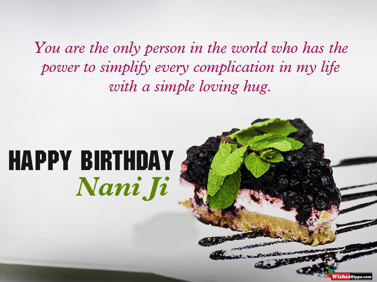 149 Birthday Wishes For Nani In Hindi And English Images 2021 Wisheshippo
