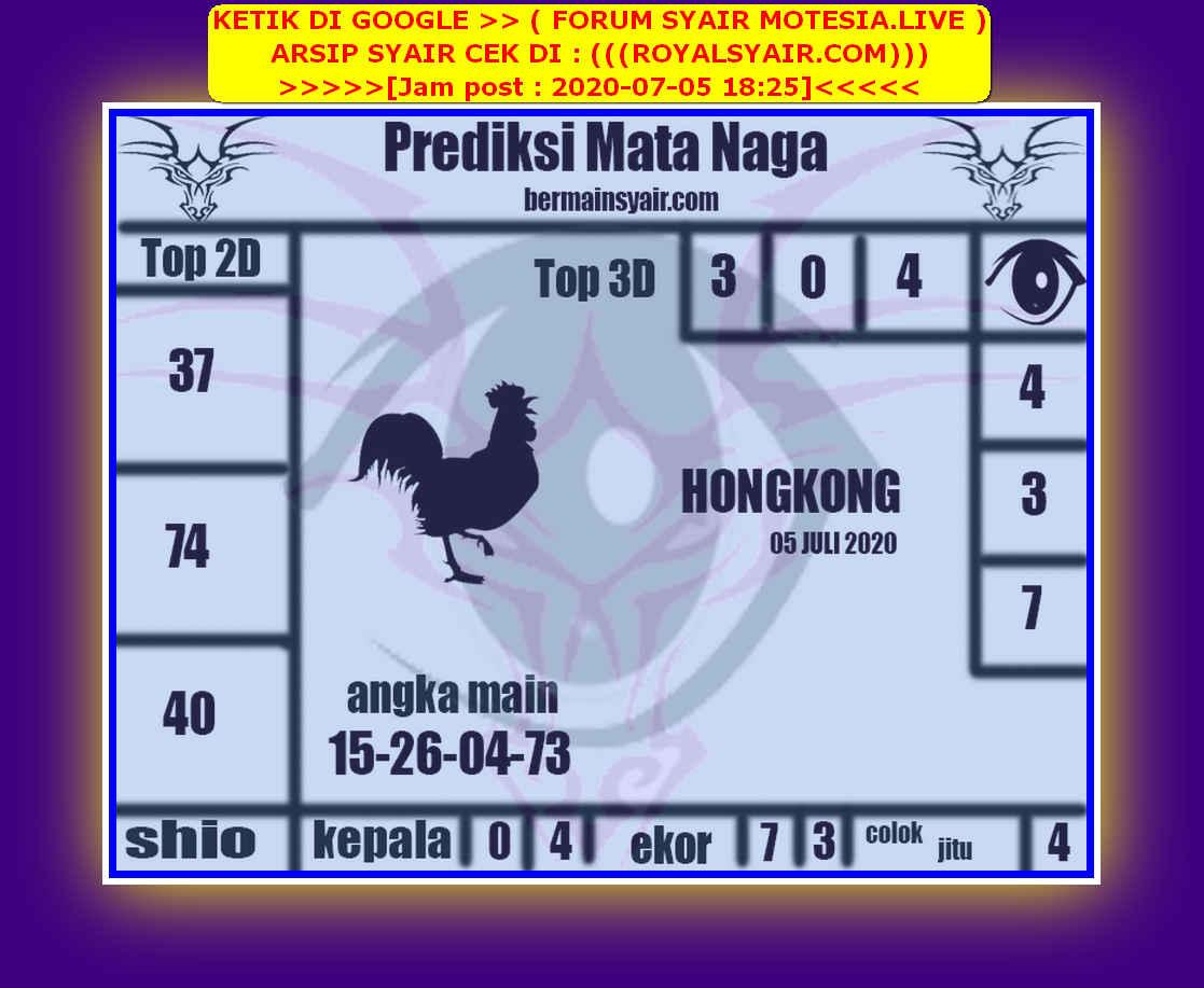 Kode syair Hongkong Minggu 5 Juli 2020 119