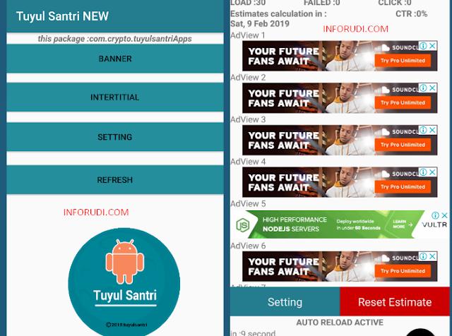 Tools Admob Tuyul Santri Update UI Terbaru