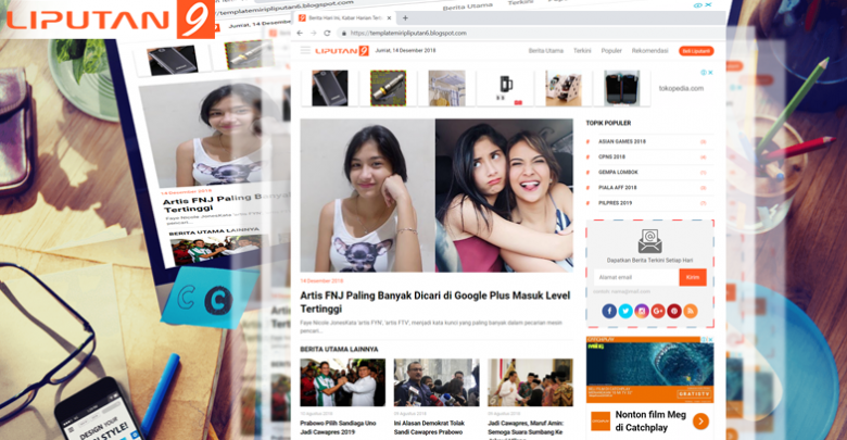New Update XML Liputan9 Version 1.3 - Responsive Blogger Template