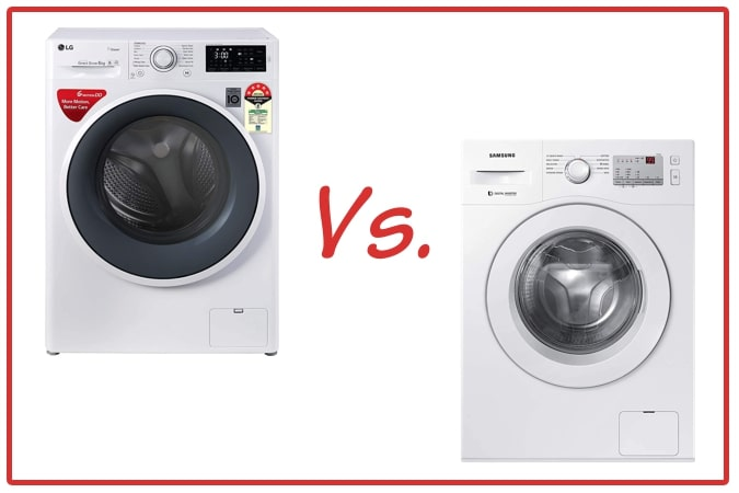 LG FHT1006ZNW (left) and Samsung WW60R20GLMA/TL (right) Washing Machine Comparison.