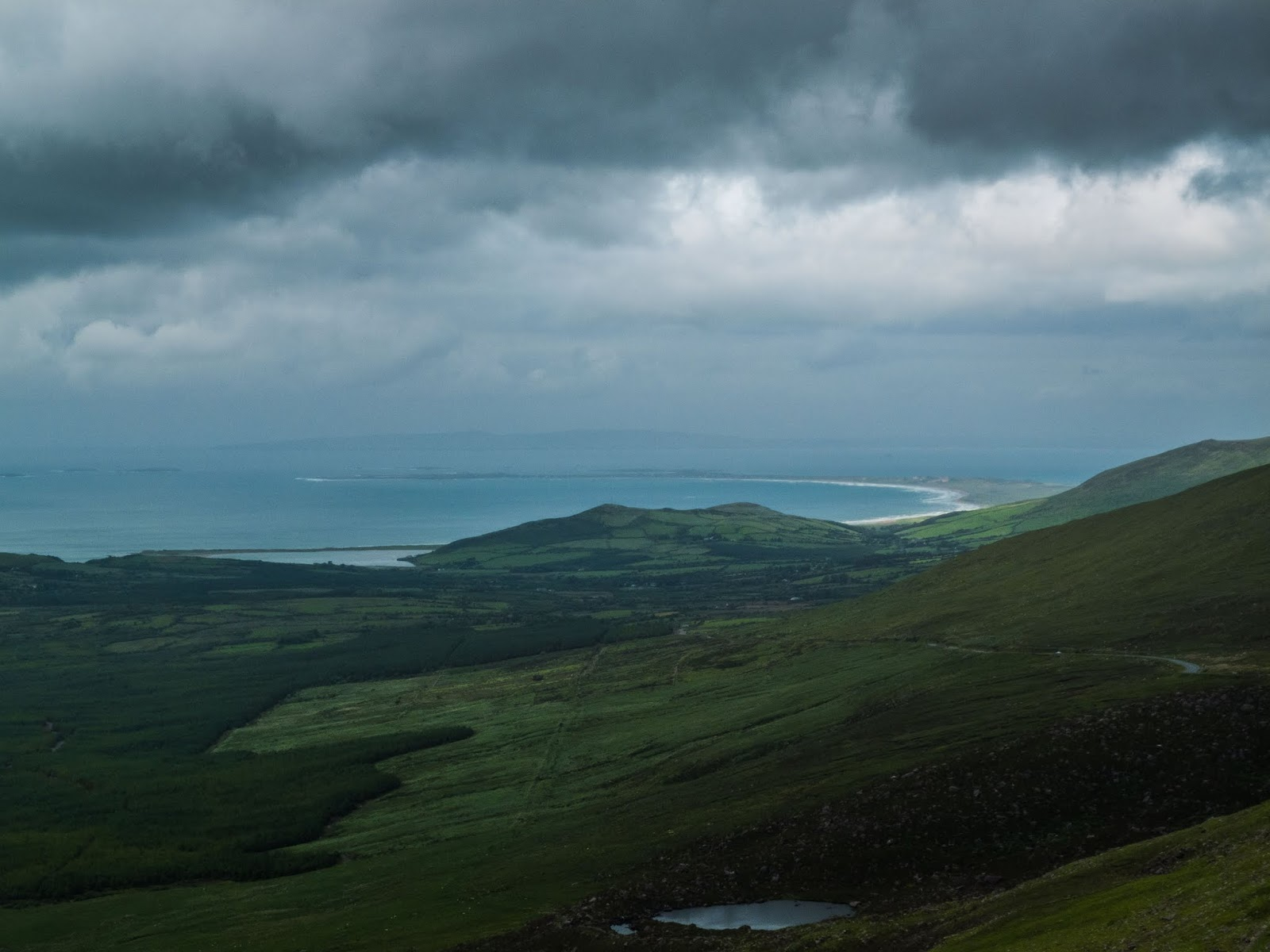 North Atlantic Ocean views from the Conor Pass in County Kerry.