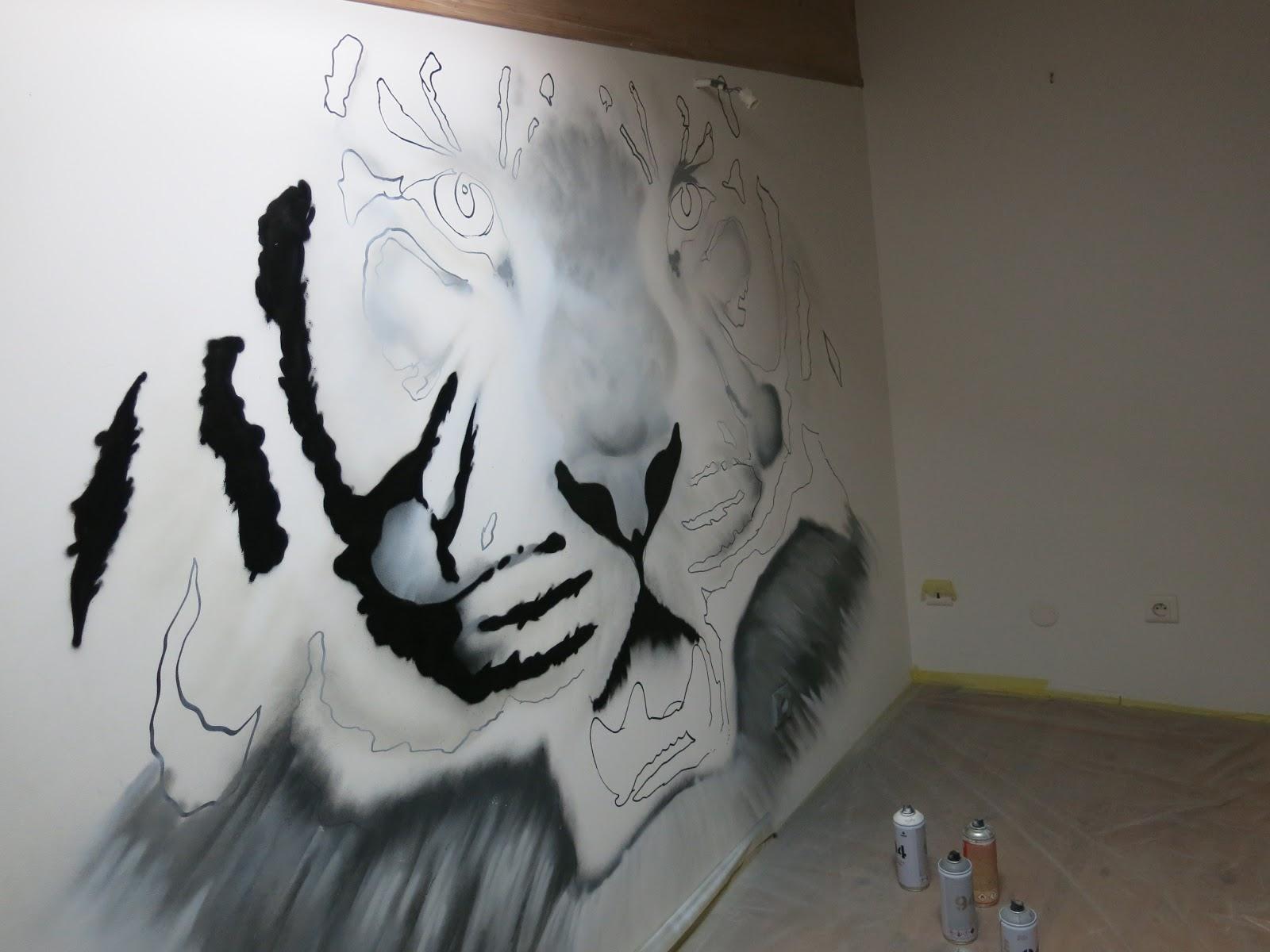 Décoration chambre d'enfant  tigre blanc  Deco Spray  Décoration &