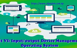 Unit VI: Input/output Device Management – Operating System