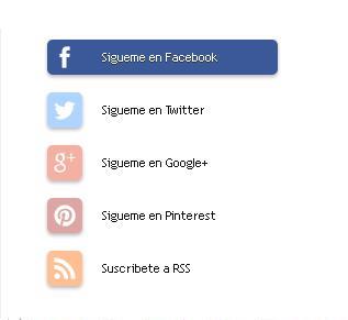 Widget de redes sociales para blogger con efectos