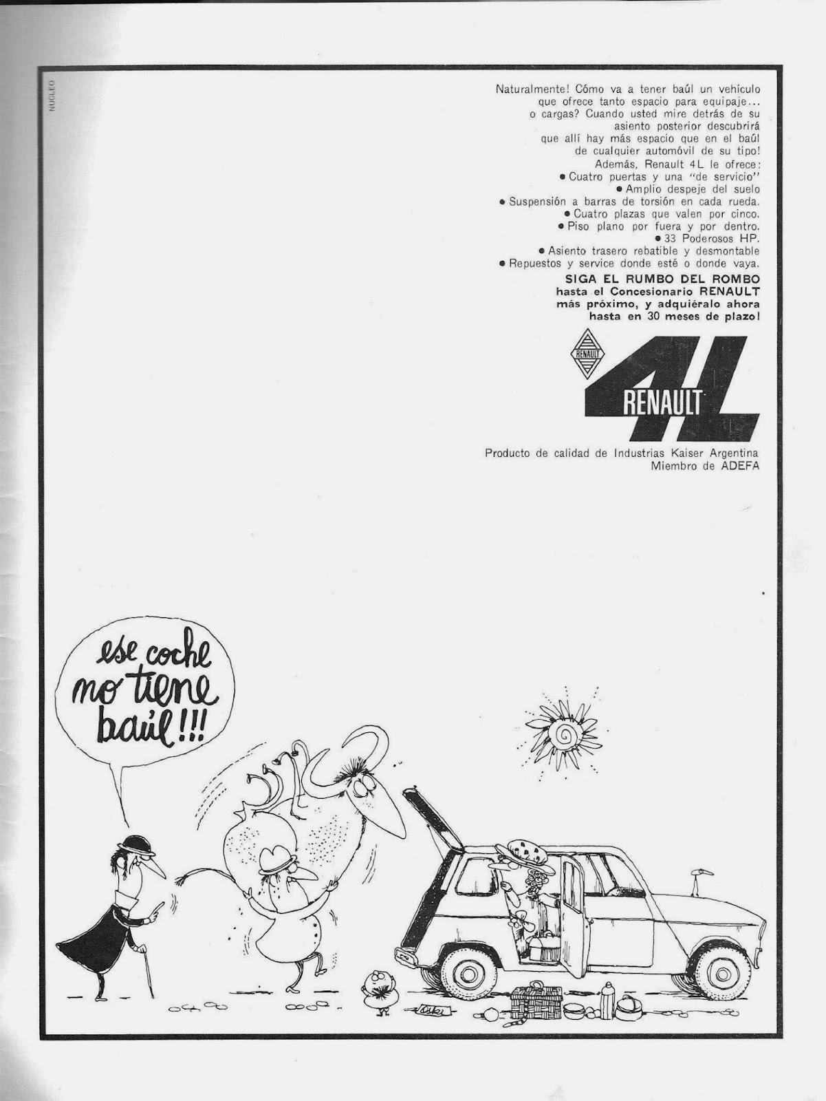 Publicidad aparecida en la revista automundo del 25 de agosto de 1965
