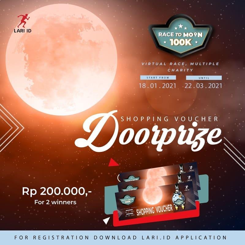 Doorprize 🎁 Race to Moon 100K - Charity Virtual Race • 2021