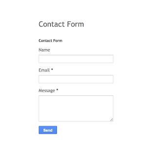 blogger contact form, default blogger contact form.