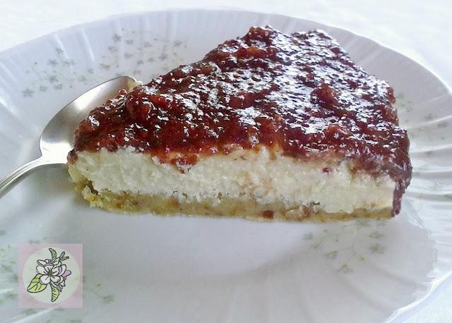Pastel Crudo de Anacardos y Arándanos  o  Cheesecake Raw