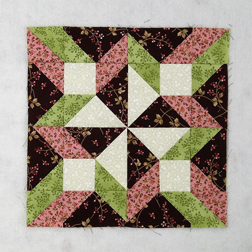 Hopscotch Quilt Block designed by Elaine Huff of Fabric406