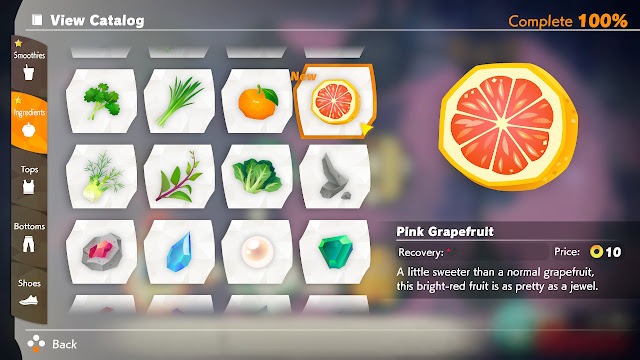 Ring Fit Adventure Pink Grapefruit ingredients catalog 100% completed