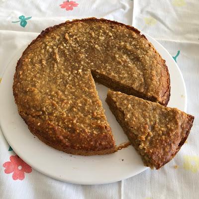 Galette des rois sans pâte, sans beurre, sans huile et sans gluten à la cacahuète et à la patate douce