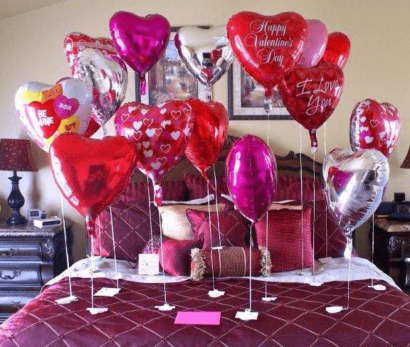 erkeğe bir oda dolusu balon