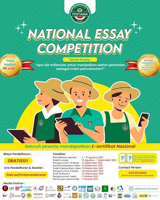 Lomba Menulis Esai Nasional oleh Persatuan Petani Muda Indonesia