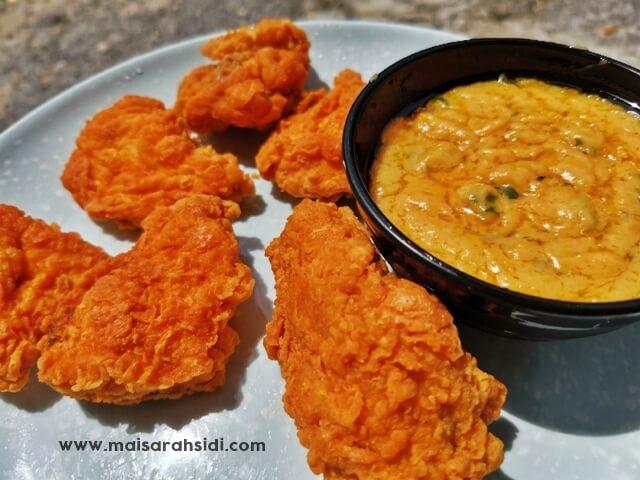Ayam Goreng Rangup Sos Salted Egg