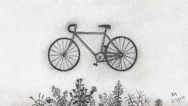 bts rm bicycle