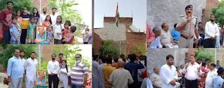 फैजुल्लागंज, लखनऊ : 75वां स्वतंत्रता दिवस हर्षोल्लास के साथ मनाया गया