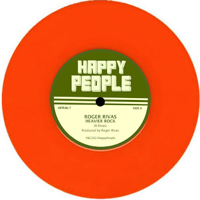 The vinyl single's paper art features the Happy People Records imprint name, and the artist and song title.