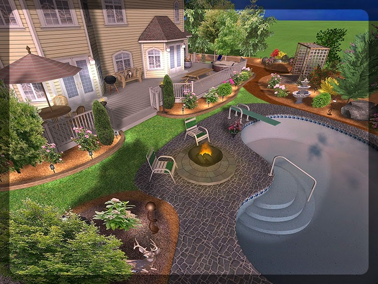 3D Plan Home Garden Design Ideas