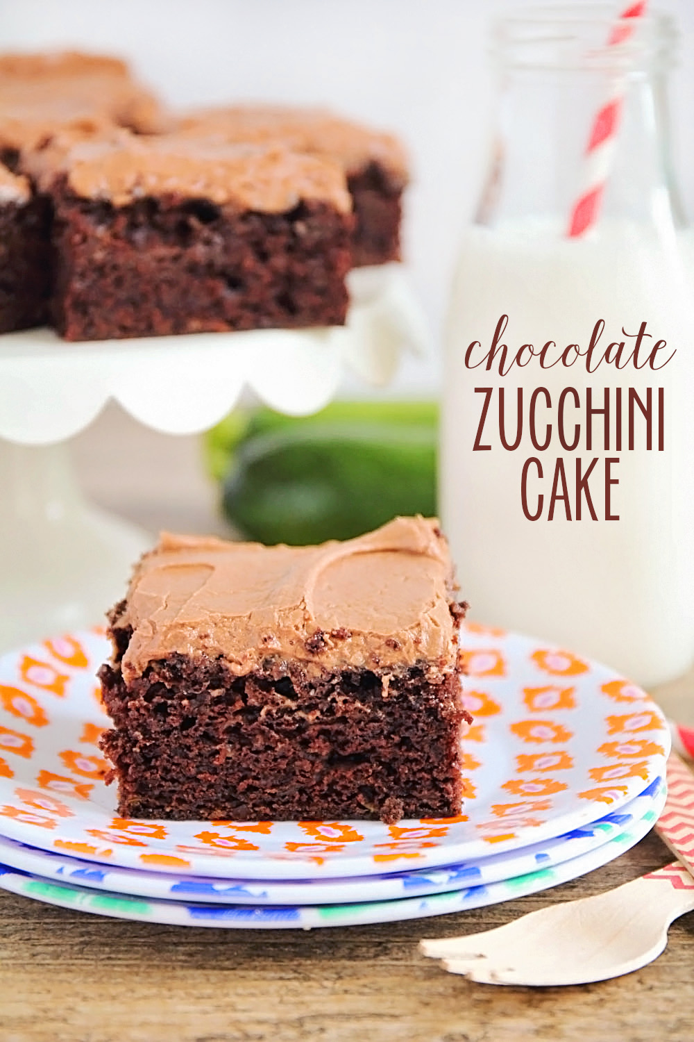 This chocolate zucchini cake is so rich and delicious, you would never ...