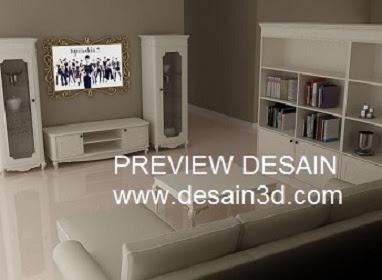 Jasa Desain 3D Living Room Ruang Keluarga Anda