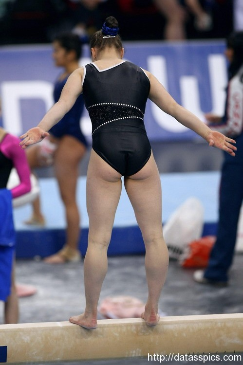 Candid gymnast teen