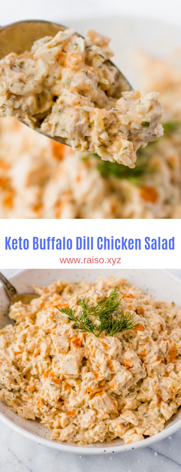 Keto Buffalo Dill Chicken Salad