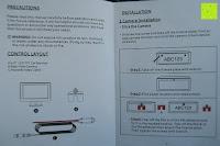 Anleitung: AUTO VOX M1 Auto Rückfahrkamera mit Monitor 4.3'' TFT LCD Rückansicht Bildschirm mit IP68 wasserdichte Kamera für Einparkhilfe&Rückfahrhilfe, einfache Installation für die meisten Automodell